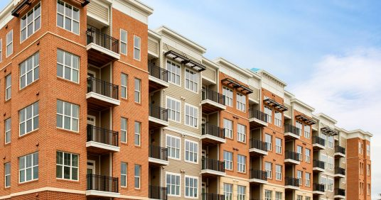 exterior image of Dartmoor Place at Oxford Square apartments in Hanover MD